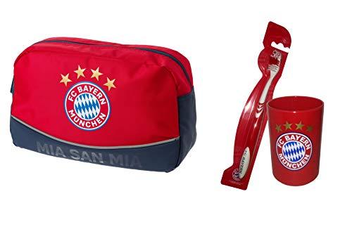 FC Bayern München Set (Kulturbeutel + Zahnputz-Set)