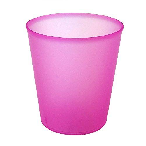 DoimoFlair Verre à cocktail Verre réutilisable MonoIdea 35 cl plastique (PP) Rose Set de 25 pièces