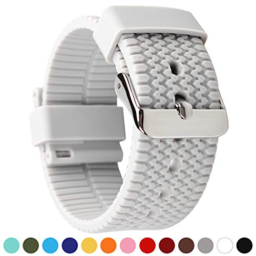 Axcellent Watch Bands Silikon Schnellverschluß.- Wählen Sie Farbe & Breite (18mm, 20mm,22mm or 24mm) Weiche Gummi Uhr Band