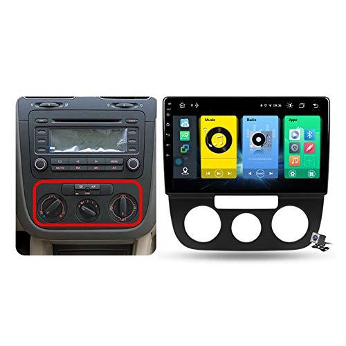 Buladala Android 10 GPS Navigation Stereo Radio para VW Jetta 5 2005-2010, 10,1' Pantalla Coche Media Player Soporte Carpaly/5G FM RDS/Control Volante/Bluetooth Hands-Free,Model a,7862: 4+64