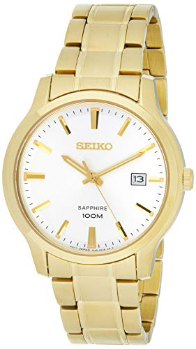 Seiko Herren Uhr mit Edelstahl Armband SGEH70P1