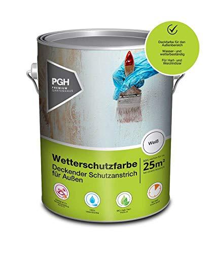 Alpholz Wetterschutzfarbe Friesenblau| 2,5 l Holzschutzfarbe für ca. 12,5 m² |Holzfarbe für Außenbereich | Lösemittelfreie Schutzfarbe für Holz | Andere Farbtöne verfügbar
