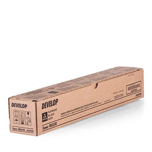 Original Develop A33K1D0 / TN-321 K, für Ineo + 224 e Premium Drucker-Kartusche, Schwarz, 27000 Seiten
