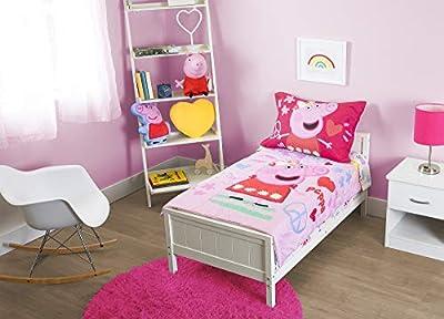 Peppa Pig - Be Nice & Kind 4 Pc Toddler Bed Set, Pink