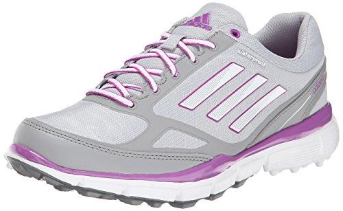 adidas Women's W Adizero Sport III-W, Clear Onix/Running White/Flash Pink, 8.5 M US