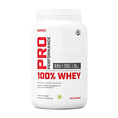 GNC Pro Performance 100% Whey Protein Powder - Unflavored, 25 Servings, Supports Healthy Metabolism and Lean Muscle Recovery