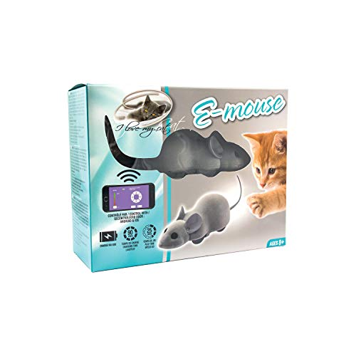 RIGA Souris connectée E Mouse - 'I Love my cat' - Pour chat