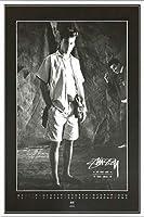 ポスター ステューシー ステューシー20th Anniversary プリント05 額装品 アルミ製ベーシックフレーム(ホワイト)
