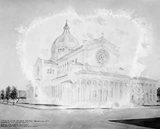 1920 photo Herald, Sacred Heart Church Vintage Black & White Photograph c1