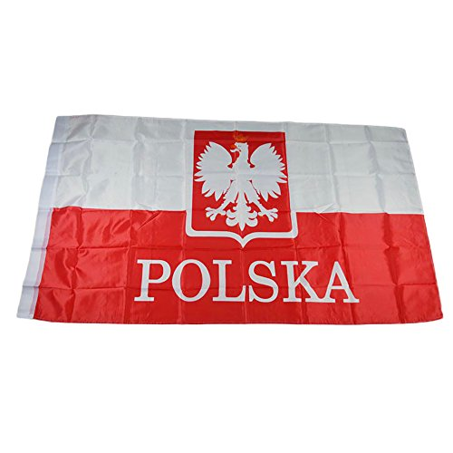 naicasy 90 * 150 cm Polnische Flagge Gedruckt Muster 1 Pack