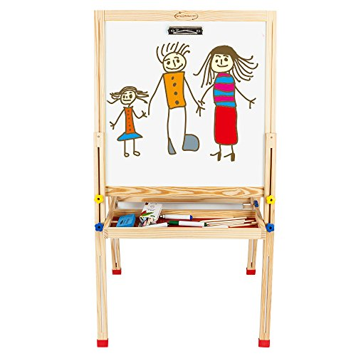 OSKIDE Double Sided Kids Easel, Children Magnetic...