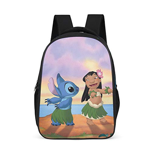 Lilo Stitch Women's&Men's Backpacks Boys Girls School Book Bags for College Work Bright Gray OneSize