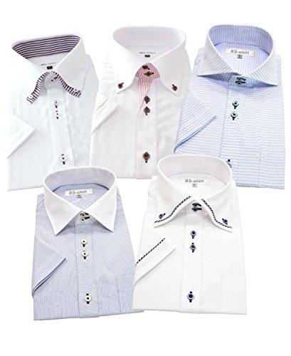 BS-shirt(ビジネスマンサポートシャツ) 半袖ワイシャツ 5枚セット メンズ 形態安定 j-s 666-4L