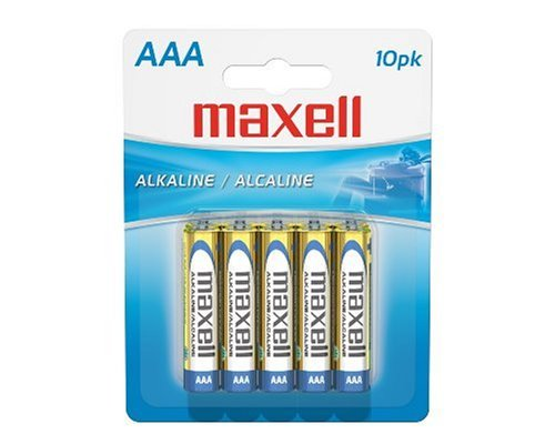 Maxell LR03 10BP - Nicht wiederaufladbare Batterien (Alkali, Zylindrische, AAA, Blau, Silber, Gelb)
