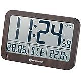 Bresser MyTime MC LCD Reloj de Pared, Apariencia de Madera, 225x150mm
