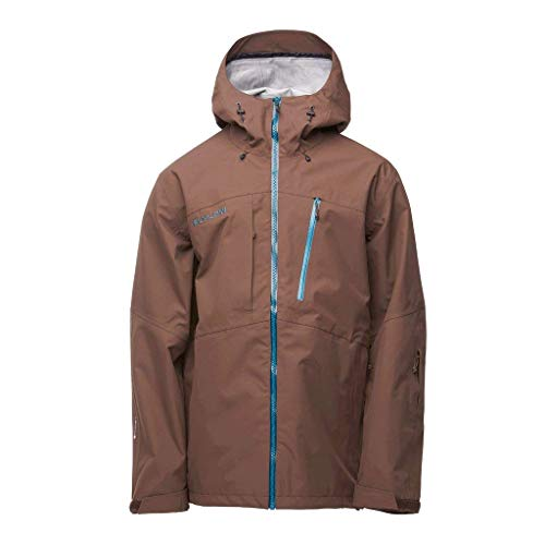 Flylow Men's Quantum Pro Ski and Snowboard Hardshell Jacket (Bison, L)