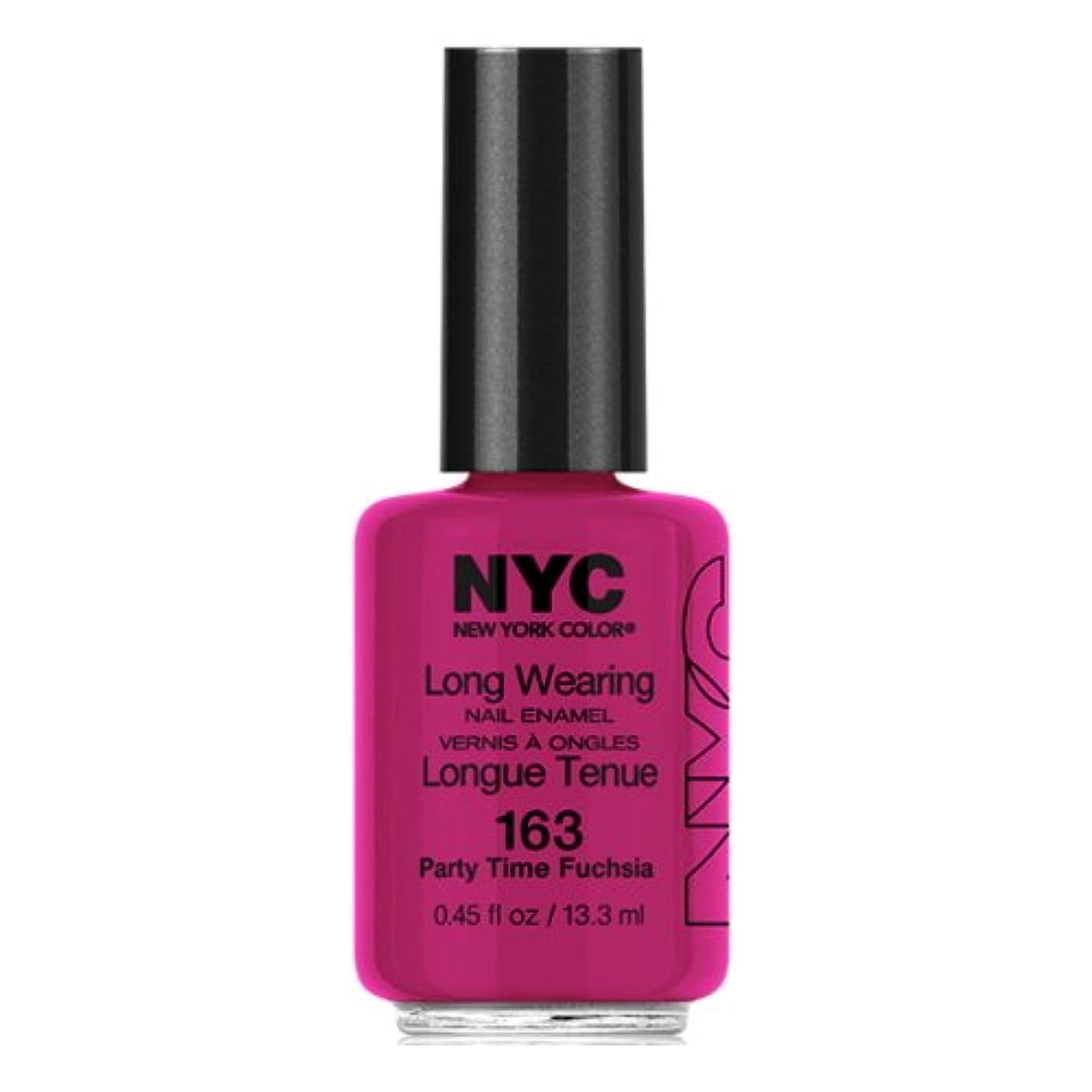 健康的お酢送信する(6 Pack) NYC Long Wearing Nail Enamel - Party Time Fuschia (並行輸入品)