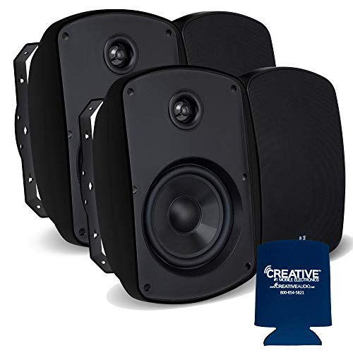 Why Choose Russound 6 Black Indoor Outdoor Wall Mount or Bookshelf Speaker Bundle 2 Pair (4 Total)