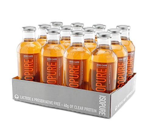 Nature's Best Isopure ICY Orange - Liquid Protein Zero Carb Ready-to-Drink Post Workout Beverage - 20 Fl Oz (Pack of 12)