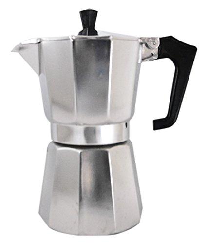 Pezzetti 1362 Espressokocher Italexpress aus glänzendem Aluminium für 6 Tassen