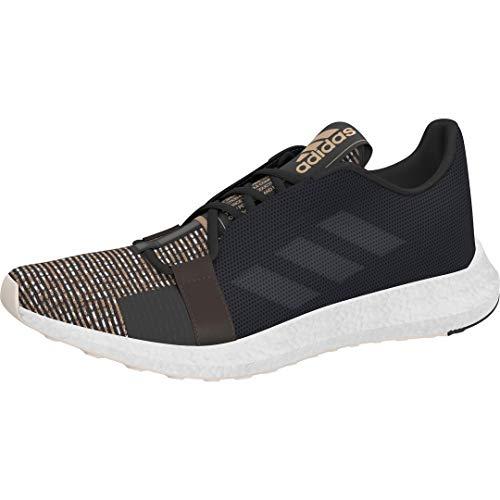 adidas Originals Men's SenseBOOST GO Running Shoe, Black/Carbon/Linen, 12 M US