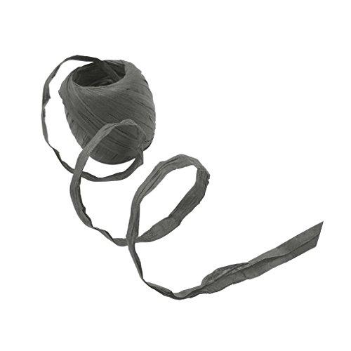 F Fityle 20 Meter Papierschnur Naturbast Raffiabast Bast Bindebast Papierkordel Deko-Bast Band Schnur Geschenkband Dekoabnd Bastelband - grau