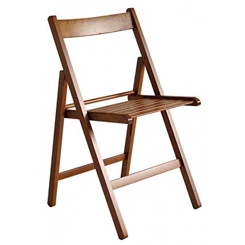 Arno silla plegable de madera de nogal