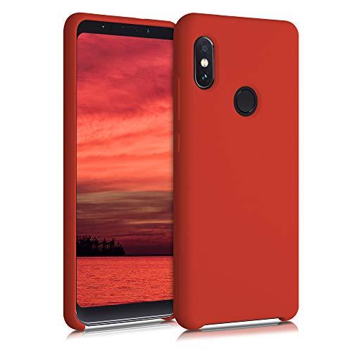 kwmobile Funda Compatible con Xiaomi Redmi Note 5 (Global Version) / Note 5 Pro - Carcasa de TPU para móvil - Cover Trasero en Rojo Mate