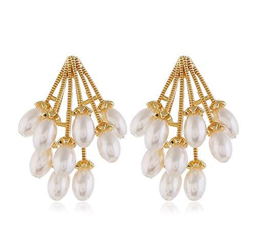 NA Dangle Earrings for Women Imitation Pearl Pendant Dangle Earrings Valentines Childrens Gifts