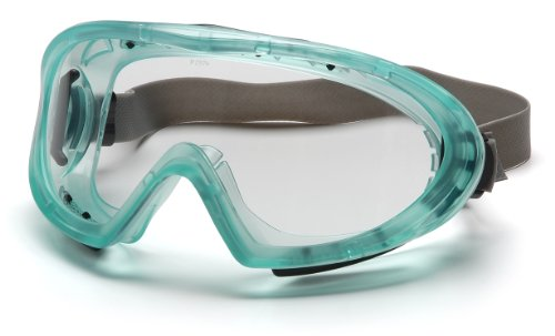 Pyramex Capstone Chemical Green Direct/Indirect Goggle With Neoprene Strap With Clear Anti-Fog Lens