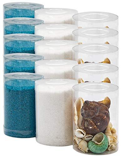 Dekovita 2kg Sabbia Decorativa con Conchiglie Set Granulata Colorata 1-4mm Bianca Turchese
