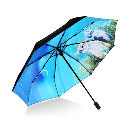 ZHANGYY Regenschirme, Klappschirme Große farbige Regenbogenschirme Mode Automatisch schließen Sonnenschirm Regenschirme Manuelle Große Regenschirme