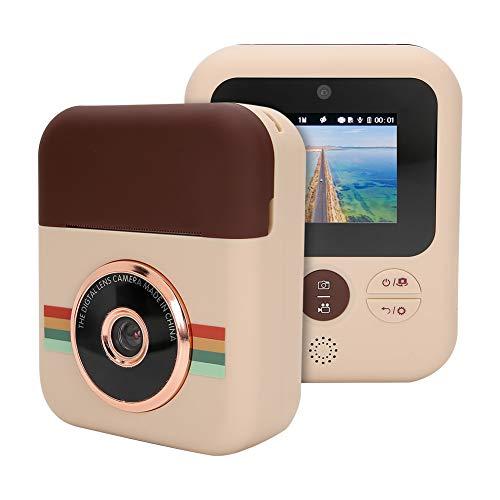 Lazmin Mini cámara para niños con impresión térmica, 12 Millones de píxeles Cámara Linda para niños HD Toma Fotos Video, Pantalla a Color IPS Cámara Digital Juguete