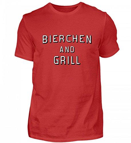 Hochwertiges Herren Shirt - Bierchen and Grill - Grillen/Grillschürze/BBQ/Grillmeister/Geschenk