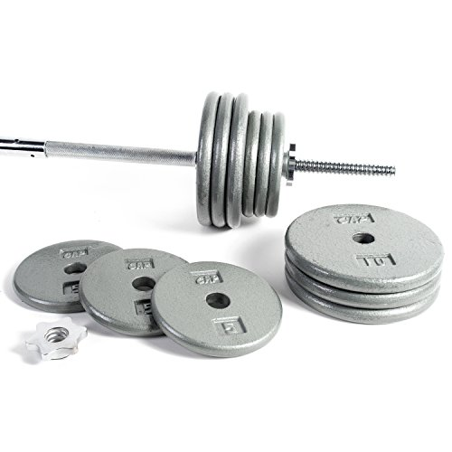 CAP Barbell Standard 1-Inch Barbell Weight Set, 100-Pounds