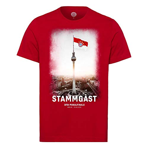 FC Bayern T-Shirt - Stammgast - zum DFB Pokalfinale 2019 FCB Shirt Gr. XXL - Plus Aufkleber Forever München