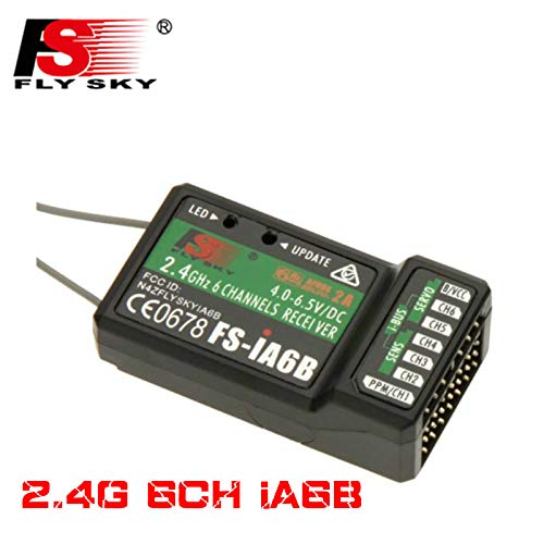 FLYSKY iA6B 2.4G 6CH PPM Output with iBus Port Receiver for FLYSKY FS-i6 FS-i10 Helicopter Airplane FPV Racing Drone Transmitter