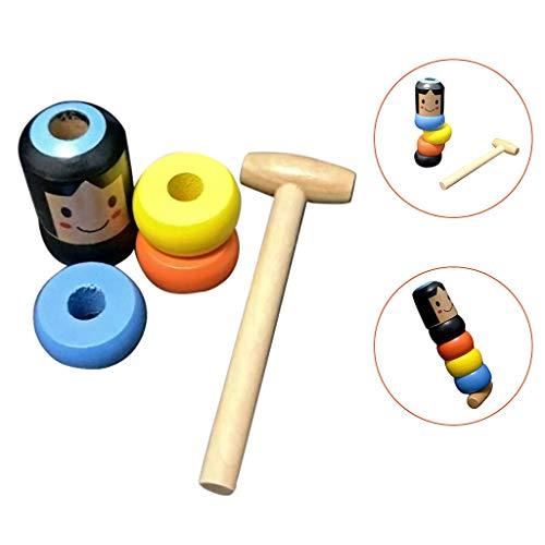 YWLINK Tumbler Spielzeug Daruma GießEn Sie Keine Spielzeuge Aus Zauberrequisiten Kind Freizeit Puzzle Spielzeug Klopf HäMmerspielzeug (Farbe, Wie Gezeigt)