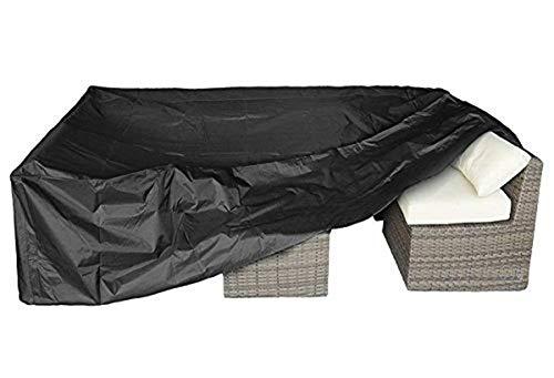Cubiertas para Muebles De Jardín Al Aire Libre 210D Tela Oxford Recubrimiento De PU Cubierta De Sofá De Plata Cubiertas De Mesa Cubiertas De Tumbonas(325 * 208 * 58CM)