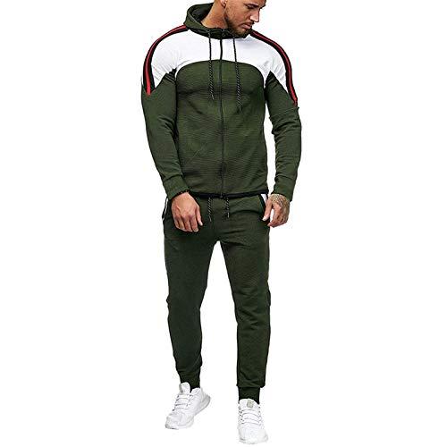 Moda chándal Completo para Hombre, Casual otoño e Invierno Chandal Completo para Hombre Sudadera con Capucha de Manga Larga + Pantalones Deportivos Conjuntos