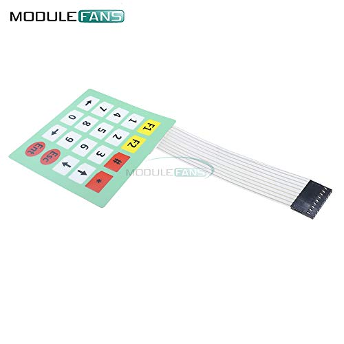 MembranSchalter 20 Key 4x5 Matrix Array Keypad Tastatur Control Panel Mikroprozessor-Tastatur-Controller für Arduino 5 * 4
