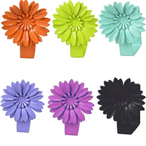 Tangger 4 PCS Tischdeckenklammern Edelstahl,Tischabdeckungsklemmen,Tischdecke Clips,Tischtuch Clips für Picknick Grillen Hochzeit Party,Zufällige Farbe
