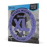 D'Addario EXL115BT, cuerdas con entorchado en níquel para guitarra eléctrica, tensión media equilibrada, 11-50