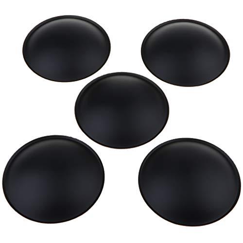 perfk 5pcs Hochwertiger Subwoofer Lautsprecher Staubschutzkappe Für Auto kfz, schwarz - 64 x 12 mm