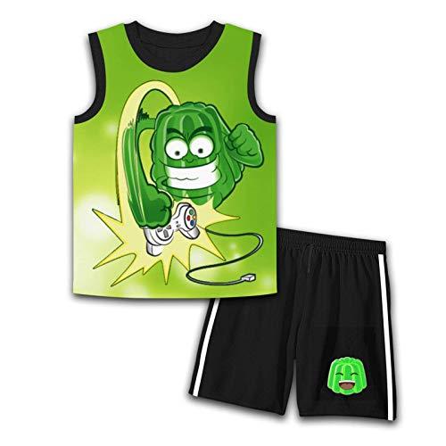 Zeulerg Je-lly bezrękawnik top i szorty zestaw odzieży dziecięcej strój dla chłopców Gifrls koszulka bez rękawów krótki zestaw