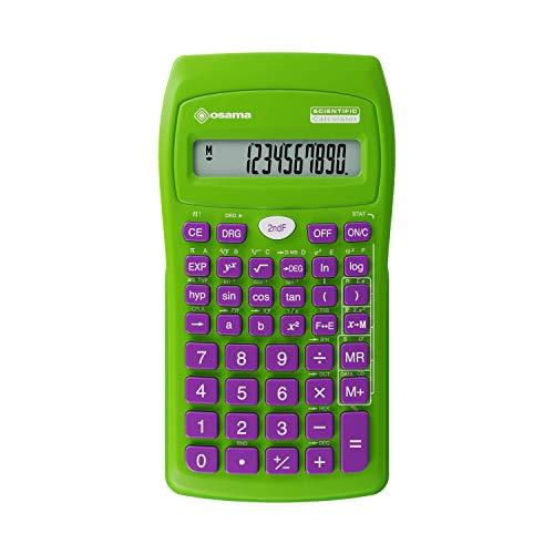 Osama Calcolatrice Scientifica 56 funzioni Becolor Verde/Viola