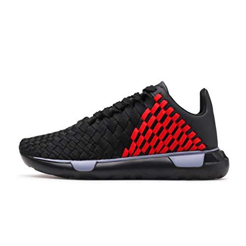 LFEU Herren Basketball Schuhe Atmungsaktiv Niedrig Top Gestricktes Netz Weich Leichtigkeit Flexibel Langlebig rutschfest Leichtathletik Sportschuhe
