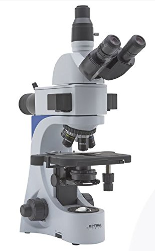 Optika b-383ld2Trinokular Mikroskop, LED Fluoreszenz, iOS Ziele, B und G-Filter Sets