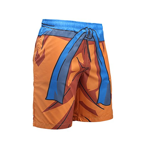 CHENMA Herren Dragon Ball 3D-Druck Schnell trocken Shorts Lounge Kordelzug Badehose Strand Shorts