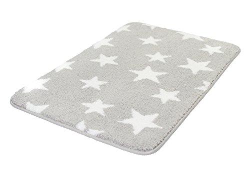 Meusch 2704913519 Badteppich Stars, 60 x 90 cm, nebel